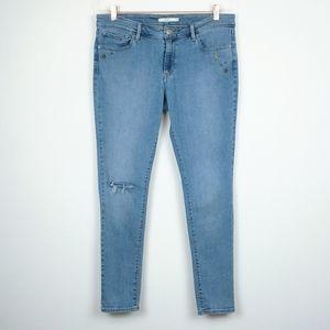 Levi's | 711 Skinny Embellished Light Wash Jeans